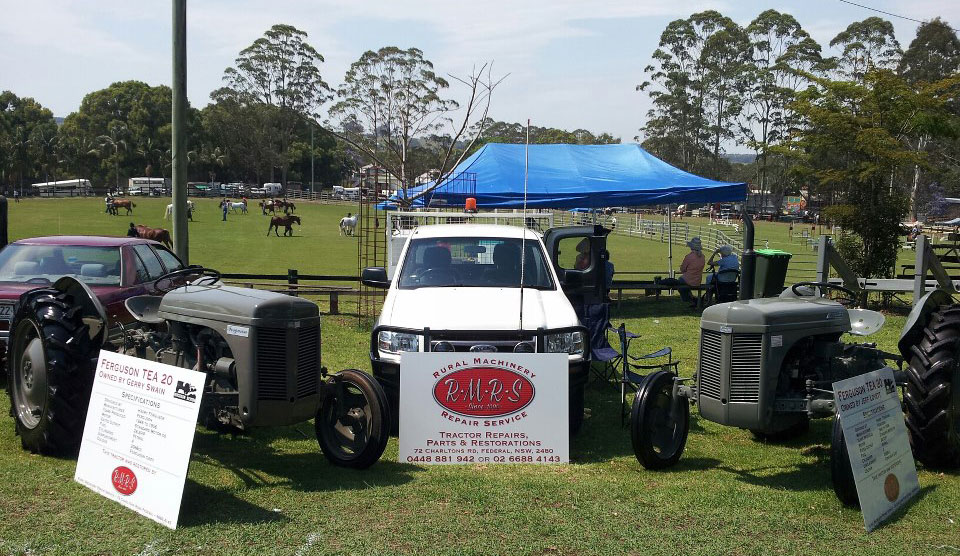 Restored Ferguson's and our work vehicle on display at the Bangalow Show, 2012.